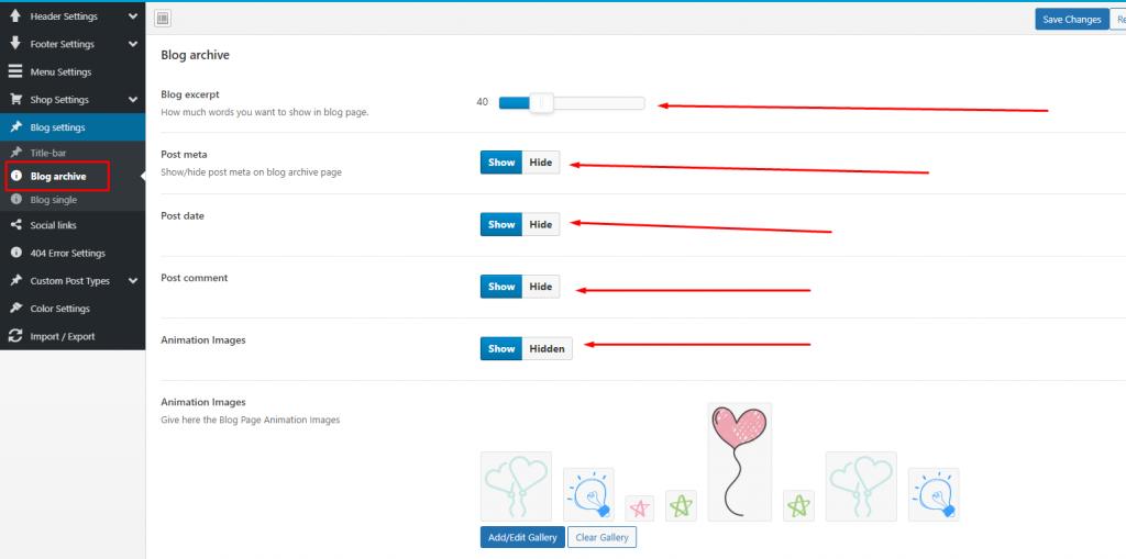 Blog archive - Blog Settings - Kidzo WordPress Theme